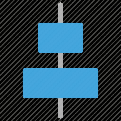 align, design, development, horizontal icon