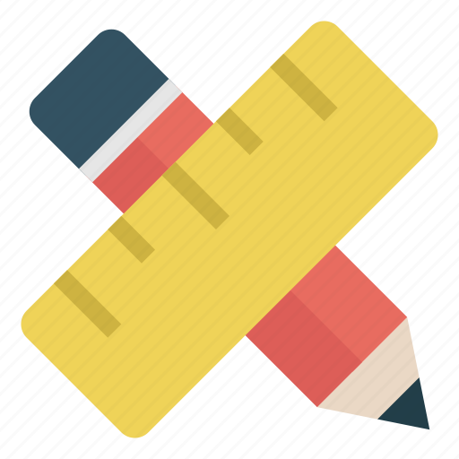 design, education, pen, pencil, ruler, school, tool icon
