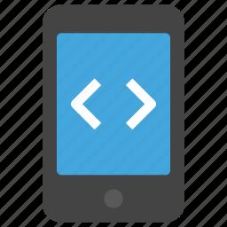 android, app, code, design, development, ios, mobile icon