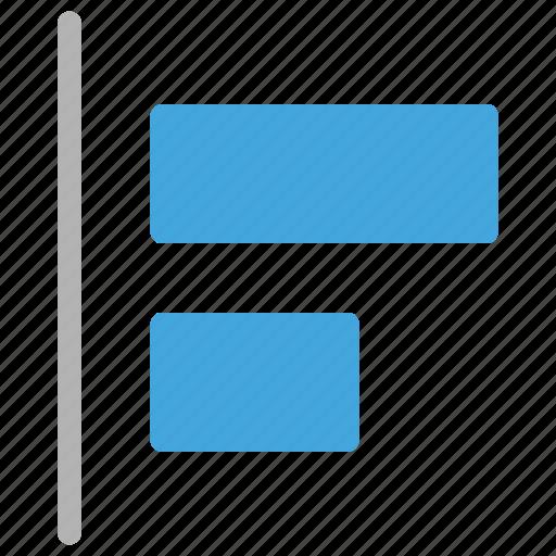 align, design, development, left icon