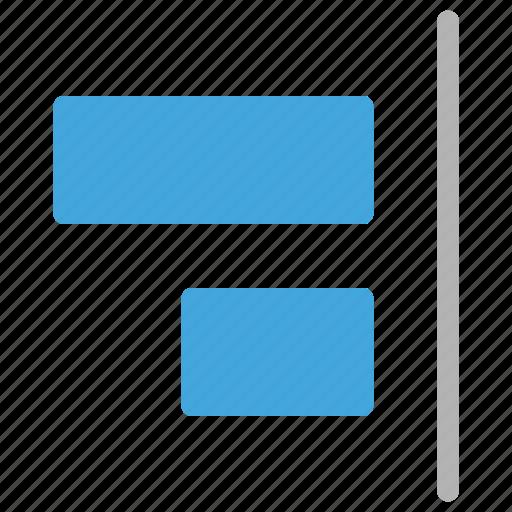 align, design, development, right icon