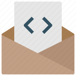 code, contact, design, development, email, mail, newsletter icon