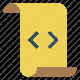 code, design, development, file, paper icon