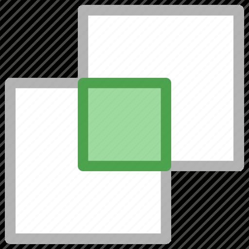 design, development, intersect, pathfinder, shape icon