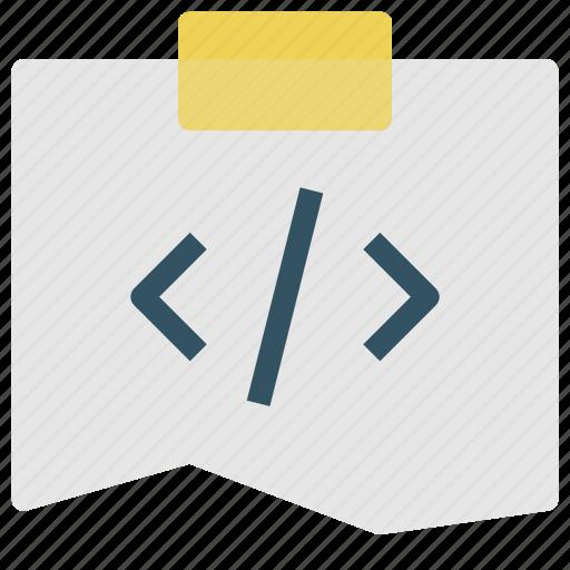 code, design, development, note icon