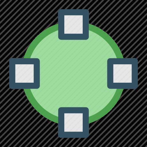circle, design, development, oval, shape icon