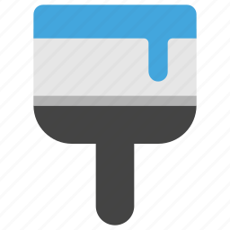 brush, color, design, development, paint icon