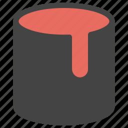 bucket, color, design, development, fill, paint icon