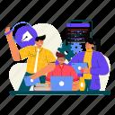 team, development, collaborate, teamwork, coding, programming