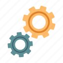 cogwheel, creative solution, fix, gear, preference, progress, solution icon