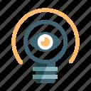 creative, idea, idea visualization, innovation, inspiration, lightbulb, vision icon