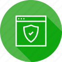 page, secure, seo, shield, web, webpage, website icon