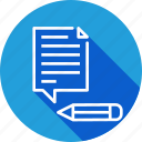 content, document, edit, management, optimization, seo, tools icon