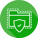 documents, folder, holder, security, seo, shield, vulnurability icon