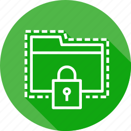 folder, lock, password, protect, secure, seo, web icon