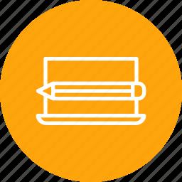 computer, edit, laptop, pencil, seo, tools, web icon
