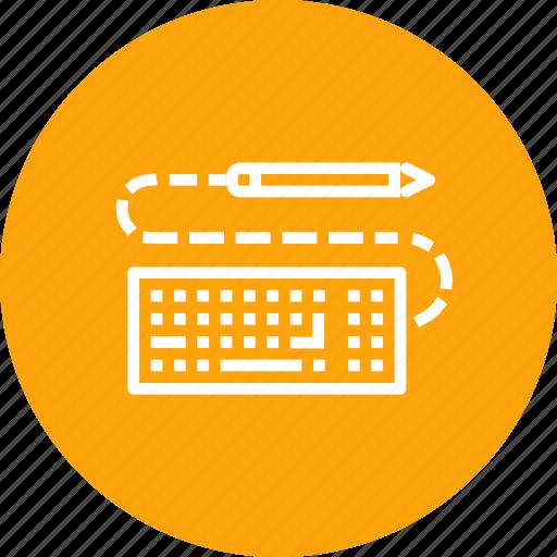 design, drawing, keyboard, pen, pencil, sketch, write icon