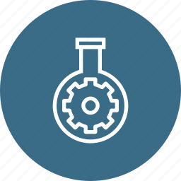 gear, glass, preferences, research, seo, settings, tube icon