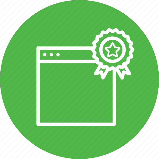 badge, bookmark, favorite, seo, star, web, window icon