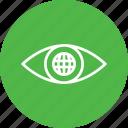 eye, internet, mission, search, view, vision, web icon