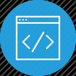 coding, custom, online, portal, seo, service, website icon