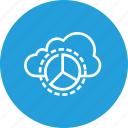 chart, cloud, data, optimization, performance, pie, report icon
