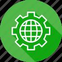 configure, gear, manage, preferences, seo, setting, web icon