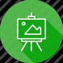board, display, optimization, picture, seo, training icon