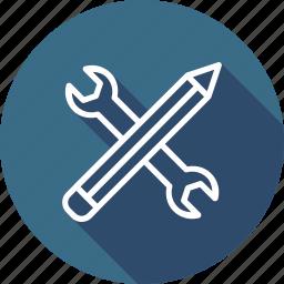 editing, pen, pencil, seo, settings, stationary, web icon