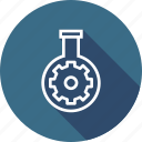 gear, glass, preferences, research, seo, settings, tube