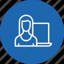 calculation, female, optimization, seo, visitor, webpage, website