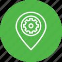 market, optimization, pin, place, preferences, settings icon
