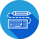 design, drawing, keyboard, pen, pencil, sketch, write icon