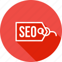 engine, label, optimization, search, seo, tag, web icon