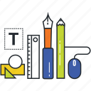 design, design tools, graphics, illustrations, vectors icon