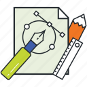 graphic design, illustrations, tools, vector designing, vectors icon