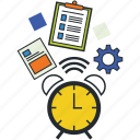 creativity, design department, illustrations, time management icon