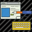 art, design, development, illustrations, layout, web design icon