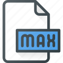 design, extension, file, max, page, type icon