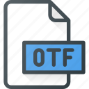 design, extension, file, open, otf, page icon