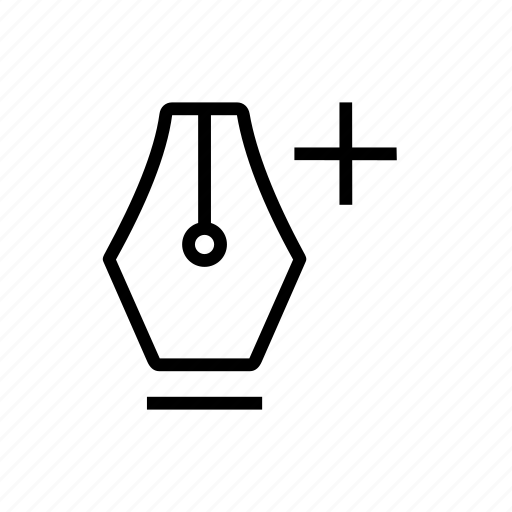 add, create, design, node, pen icon