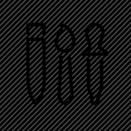 design, paintbrush, pencil, picker, tools icon