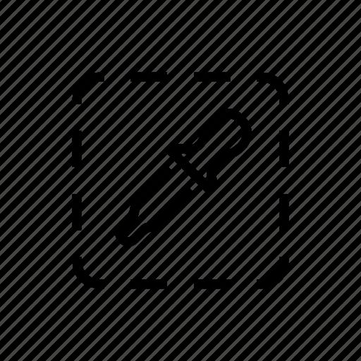 area, colorpicker, design, eyedropper, zone icon