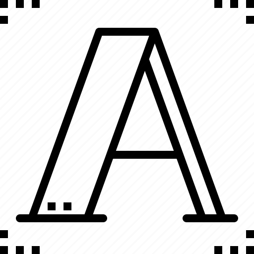 capital, character, letter, text icon