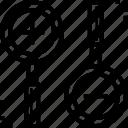 design, glass, idea, loupe, zoom icon