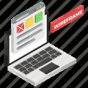web blog, web design, web interface, web layout, web template, wireframe icon