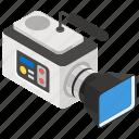 electronic camera, photoshoot camera, recording camera, video camera, videography icon