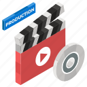 cinematography, clapper, clapperboard, clapstick, slat board, sync slate, video production icon
