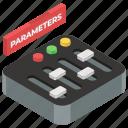equalizer, parameters, sound adjuster, sound controller, sound equalizer, sound settings icon