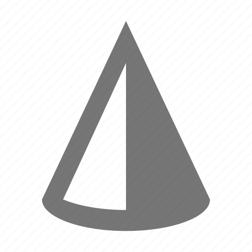 cone, contrast icon